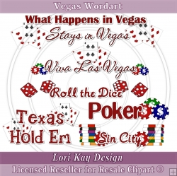 Vegas Wordart